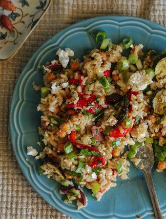 Antipasto Brown Rice Salad