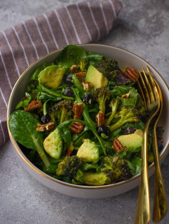 Green Salad with Charred Broccoli and Avocado
