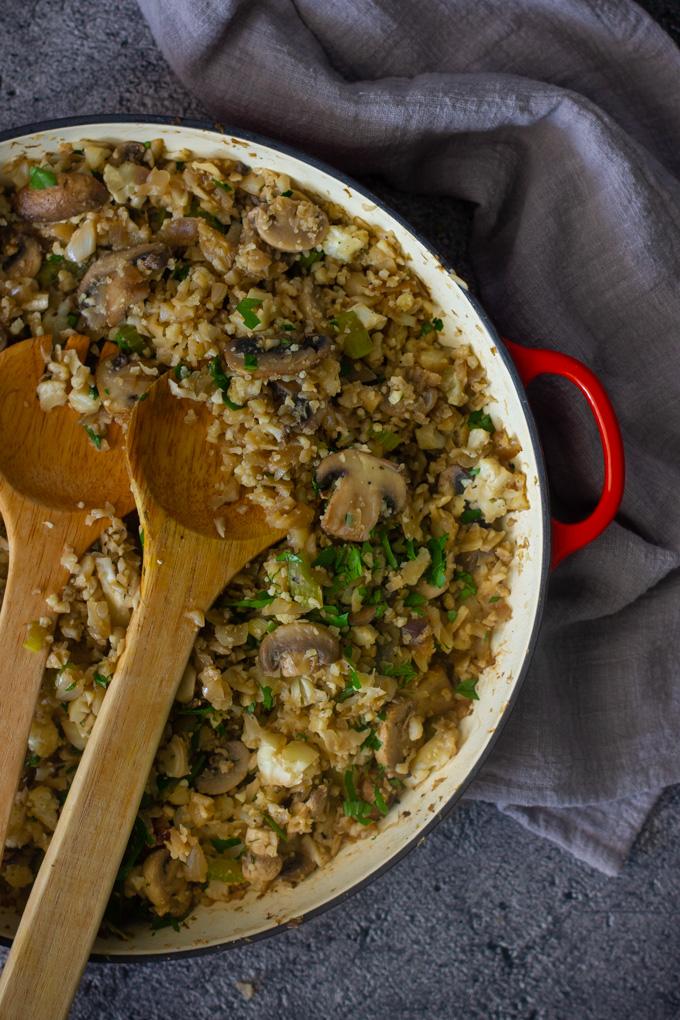 אורז כרובית עם פטריות