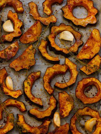 דלעת ערמונים בתנור בציפוי סילאן ואריסה