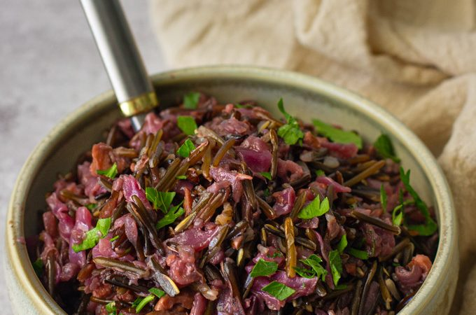 Wild Rice with Red Cabbage